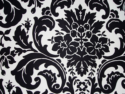 white, black, Damask