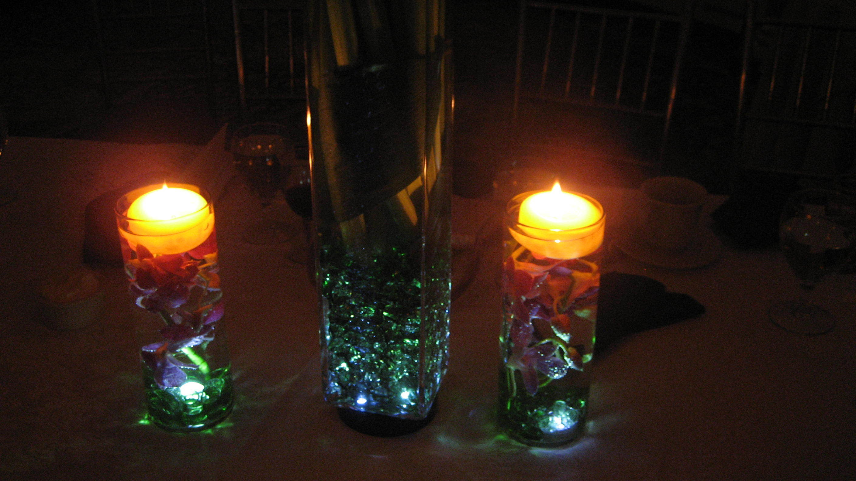 Accents, Centerpiece, Lit, Erganic design