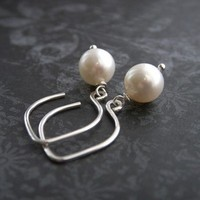 Jewelry, silver, Earrings, Bride, Bridal, Pearl, K garner designs, Sterling, Handcrafted