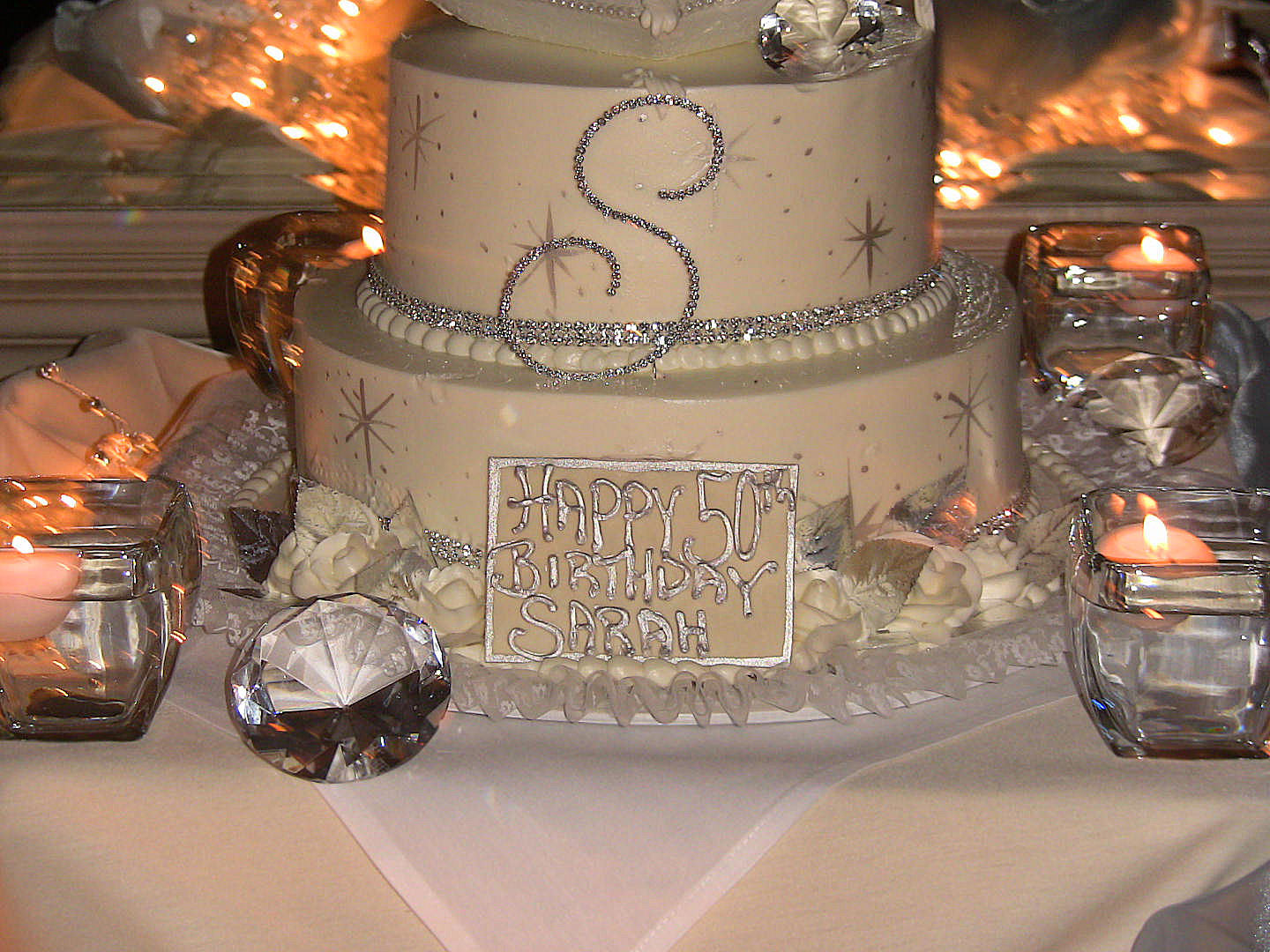 Crystal embellished 2 tier cakevendors So FabuLuxe Couture