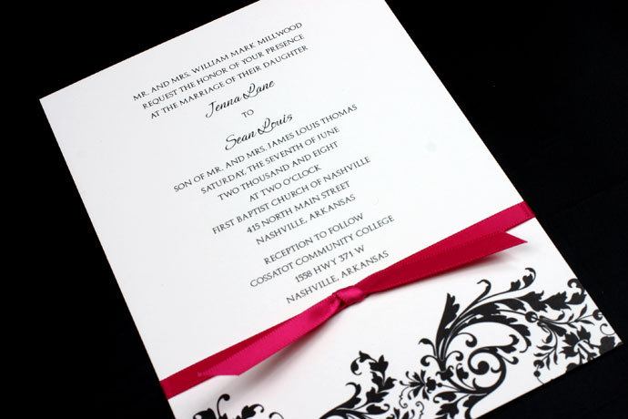 Reception, Flowers & Decor, Stationery, invitation, Invitations, Monogram, Map, Custom, Ornate, Design, Card, Pattern, Houston, Response, Solutions, Invitation solutions