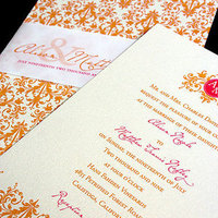 Reception, Invitations, invitation, Card, Custom, Monogram, Design, Response, Map, Pattern, Ornate, Houston, Invitation solutions, Stationery, Flowers & Decor