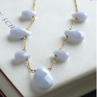 Jewelry, gold, Necklaces, Something blue, Necklace, Fill, Blue lace agate