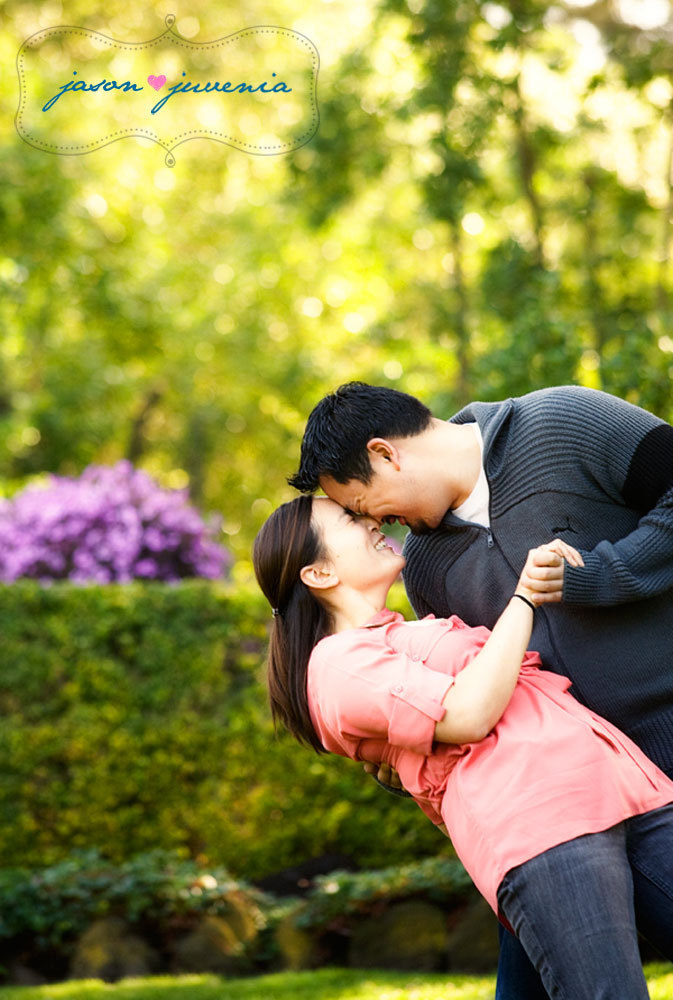 Flowers & Decor, yellow, pink, purple, green, Garden, Portrait, Engagement, Golden gate park, Jason and juvenia