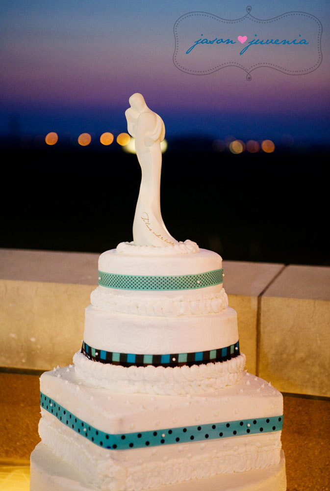 Cakes, blue, brown, cake, Wedding, Teal, Topper, Sunset, Tiers, Jason and juvenia