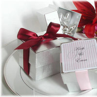 Favors & Gifts, silver, favor, Box, Chic wedding favors