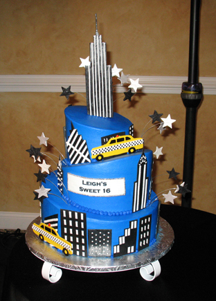 Destinations, North America, New york, For goodness cakes, Sweet 16, Topsy turvey