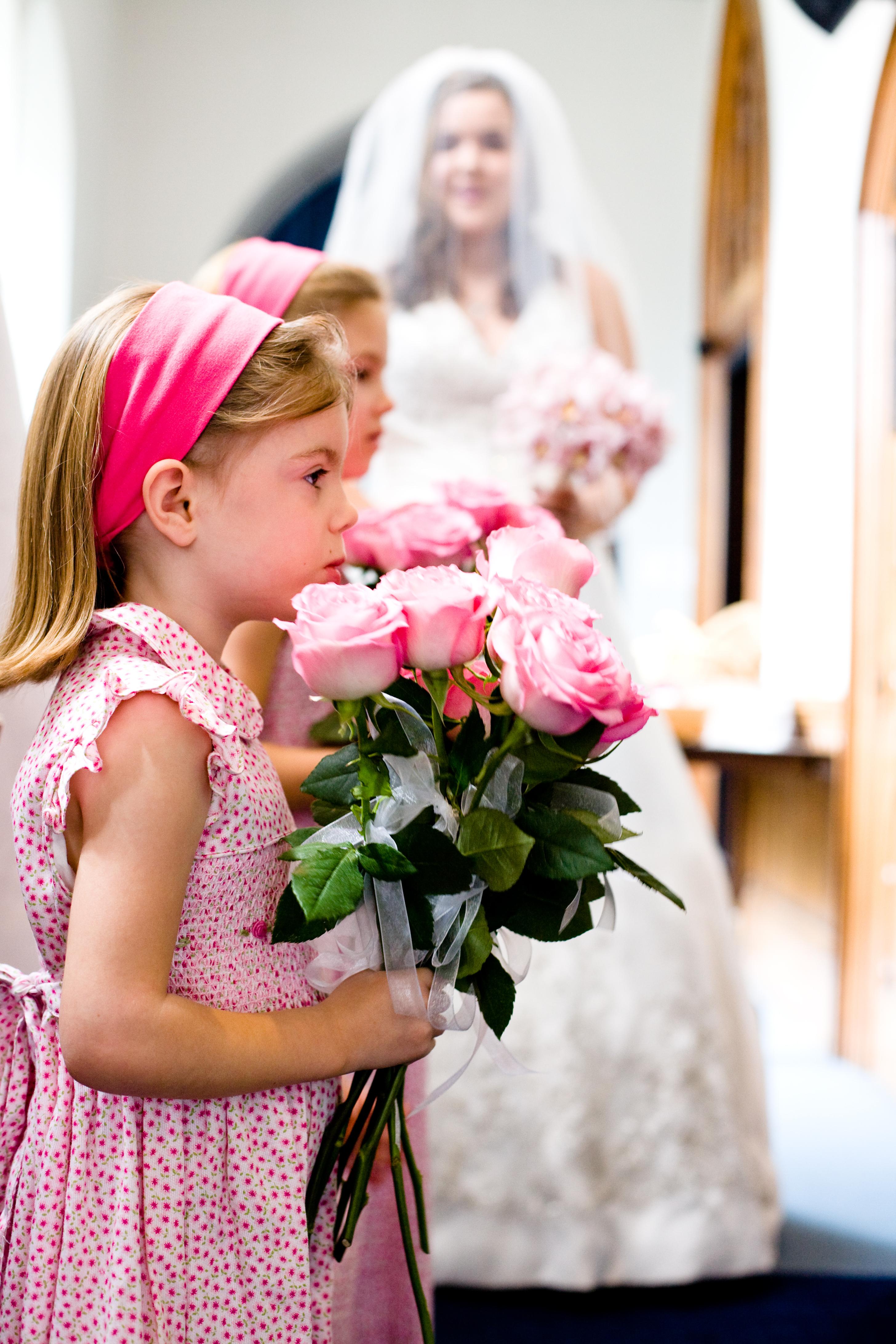 pink, Flower girl