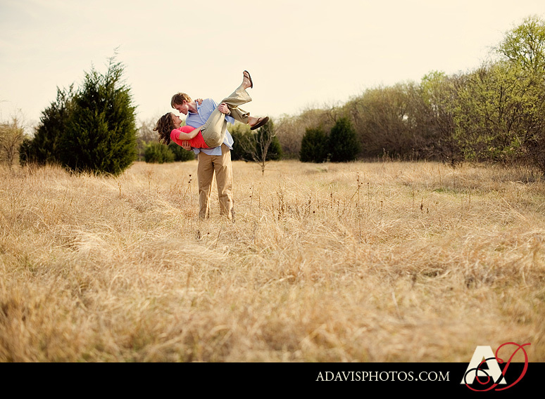 Portrait, Engagement, Field, Wild, Allison davis photography