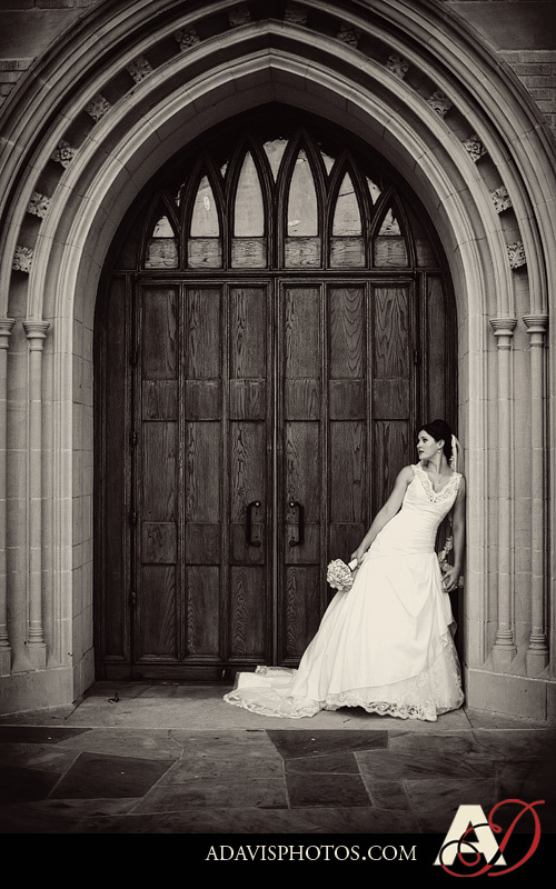 Bride, Portrait, Bridal, Church, Park, Arches, Dallas, Allison davis photography, Methodist, United, Highland