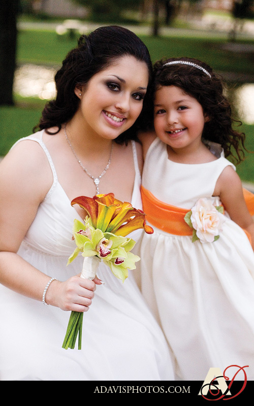 Flowers & Decor, orange, Outdoor, Flower, Girl, Wedding, Park, Allison davis photography, Haggard, Plano