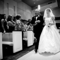 Wedding Dresses, Fashion, white, black, dress, Bride, Gown, Father, Of, Walking, Church, And, Entrance, The, Aisle, Bw, Smile, Jonathan ivy photography