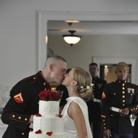 Cakes, white, red, blue, cake, Wedding, And, Military, Hall, Georgia, Roswell, Kimball