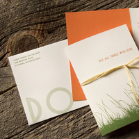 Stationery, orange, invitation, Invitations, Grass, Letterpress, Organic, Natural, Cotton, Sugar river stationers