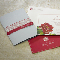Stationery, red, blue, invitation, Invitations, Asian, California, Peony, Sugar river stationers