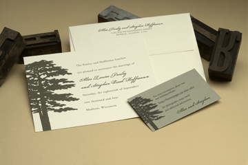 Stationery, green, invitation, Eco-Friendly Wedding Invitations, Invitations, Letterpress, Eco, Friendly, Trees