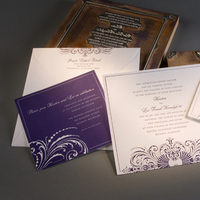 Stationery, purple, invitation, Invitations, Letterpress, Detroit