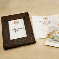 Stationery, brown, invitation, Invitations, Cotton, Animal, Sugar river stationers