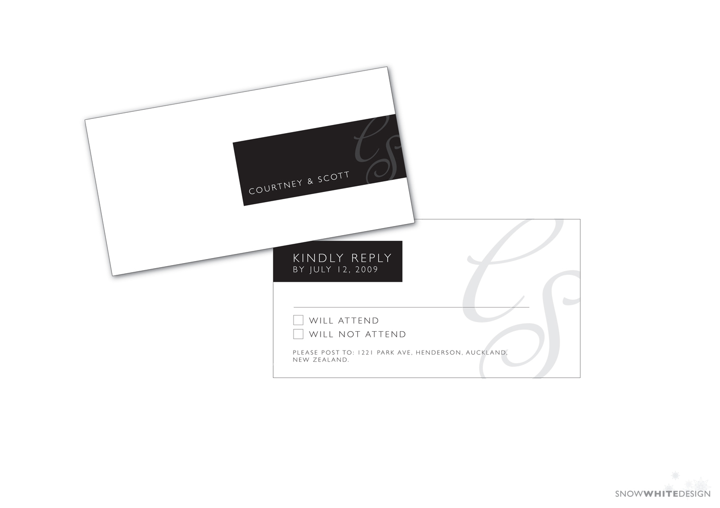 DIY, white, black, Grey, Rsvp, Design, Card, Snow, Response, Snow white design