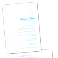 DIY, Stationery, white, blue, invitation, Beach, Beach Wedding Invitations, Invitations, Tropical, Grey, Starfish, Design, Invite, Snow, Snow white design
