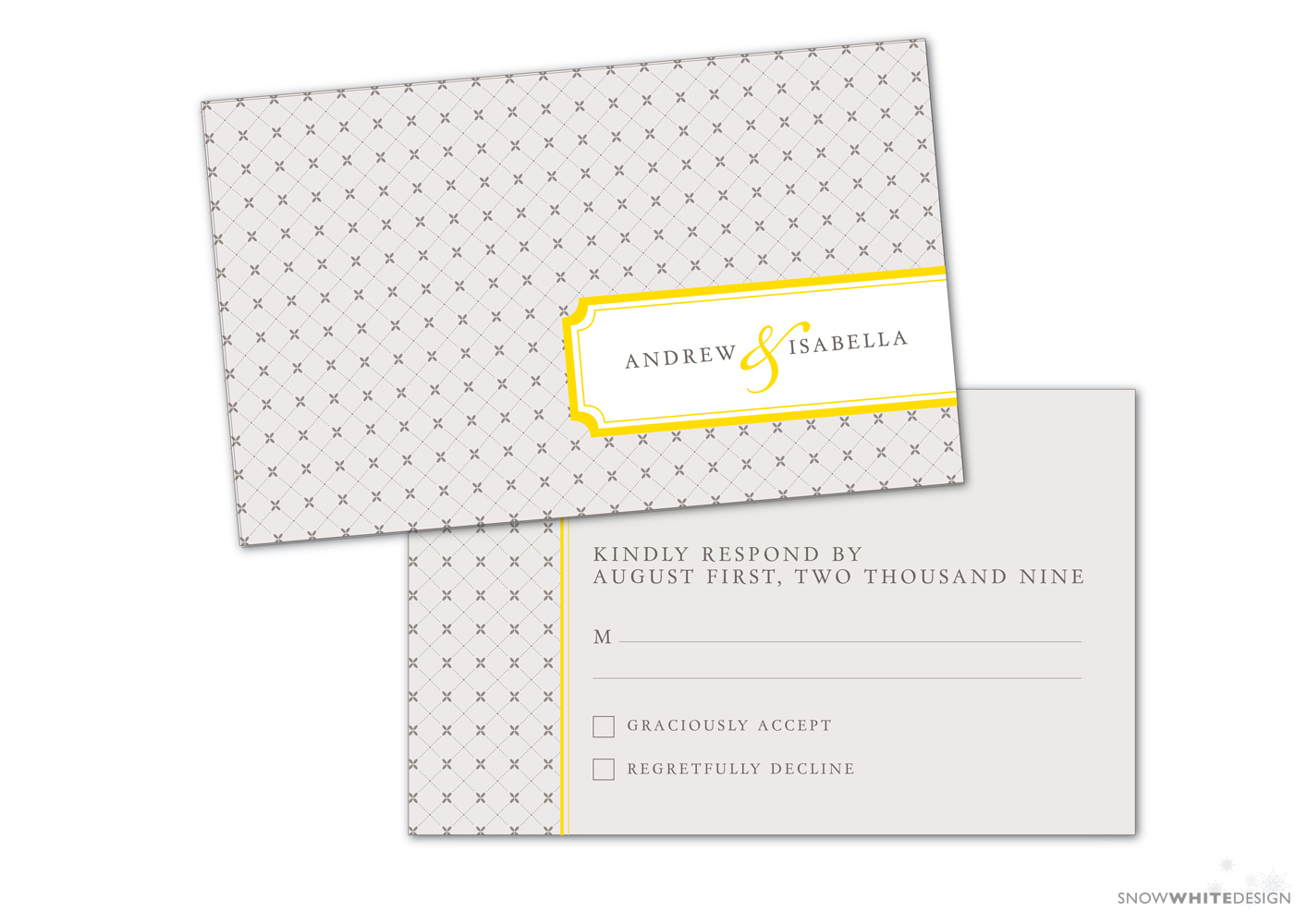 DIY, Stationery, white, yellow, invitation, Invitations, Grey, Rsvp, Design, Invite, Snow, Response, Snow white design