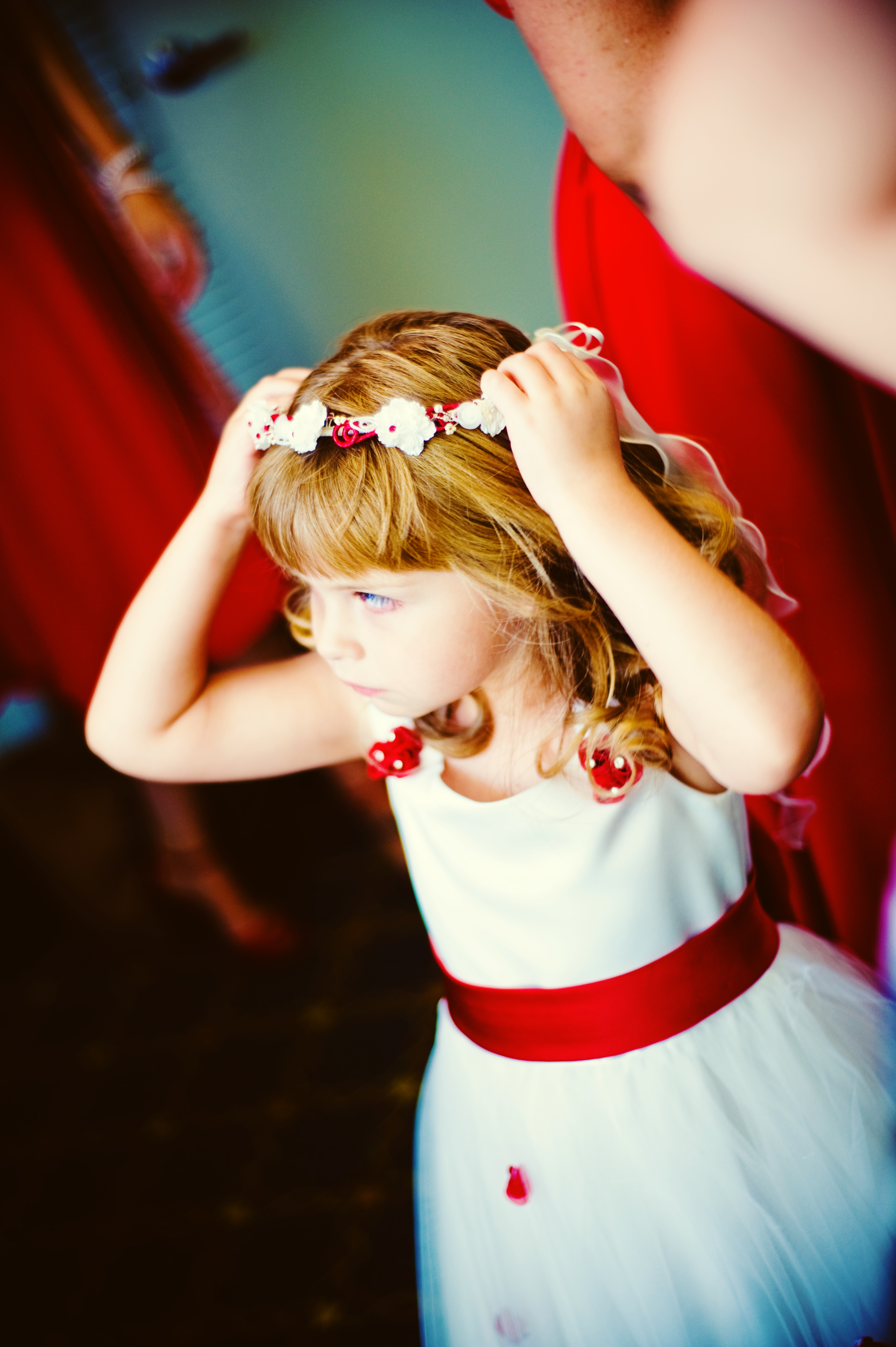 Beauty, Flowers & Decor, Wedding Dresses, Fashion, red, dress, Flower, Girl, Hair, Cute, Nessa k photography