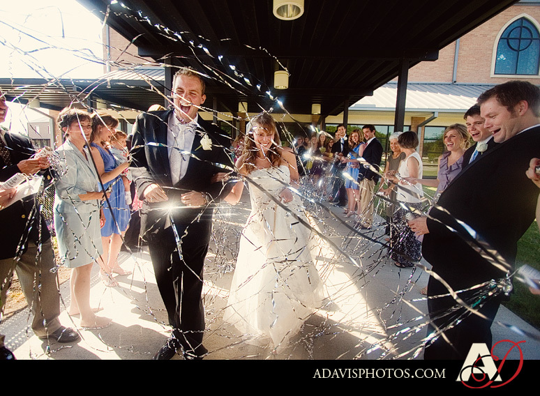 Wedding, Exit, Streamers, Dallas, Allison davis photography