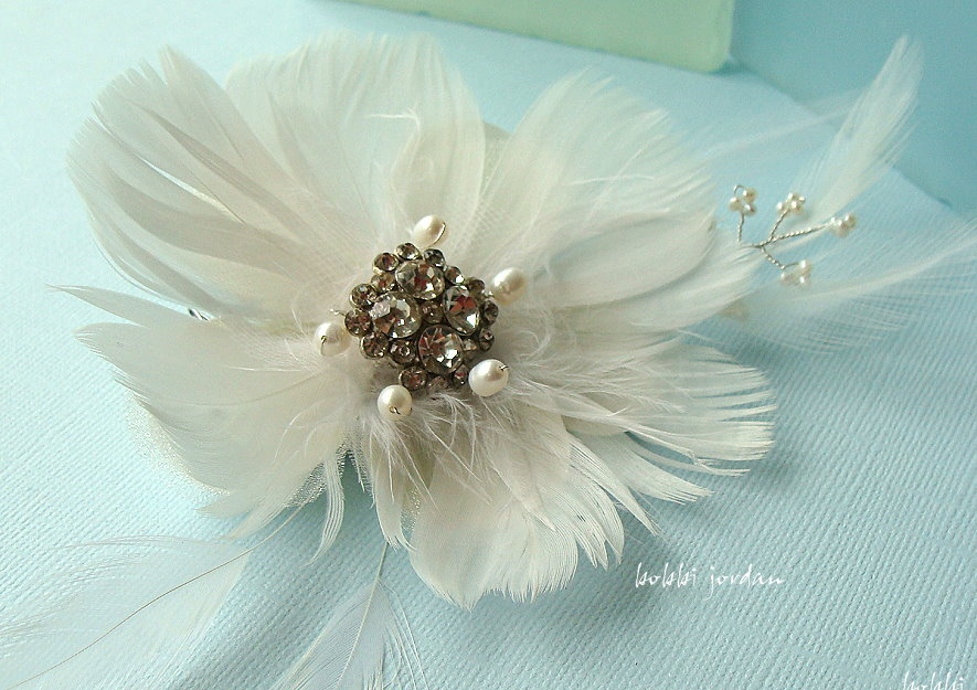 Beauty, Jewelry, Feathers, Accessories, Hair, Bridal, Floral, Fascinator, Clip, Feather, Bobbi jordan