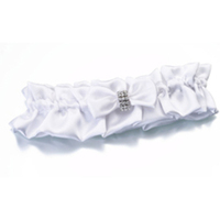 white, Garter, Simple, Bow, Rhinestone