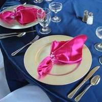 Registry, blue, silver, Place Settings, And, Royal, Fuschia, Plates, Accent, Charger, Kingdom-enterprises