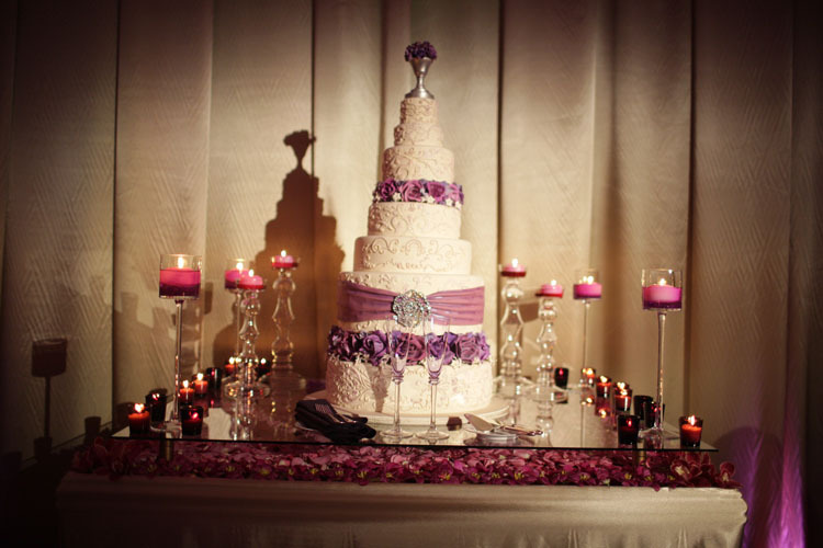 Cakes, purple, cake, Candles, Table