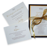 Stationery, gold, invitation, Fall, Invitations, Wedding, Custom, Bow, Kaleidoscope design studio