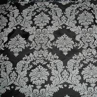 Aisle, Fabric, Runner, Damask, Flocked