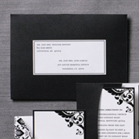 Stationery, Invitations, Damask