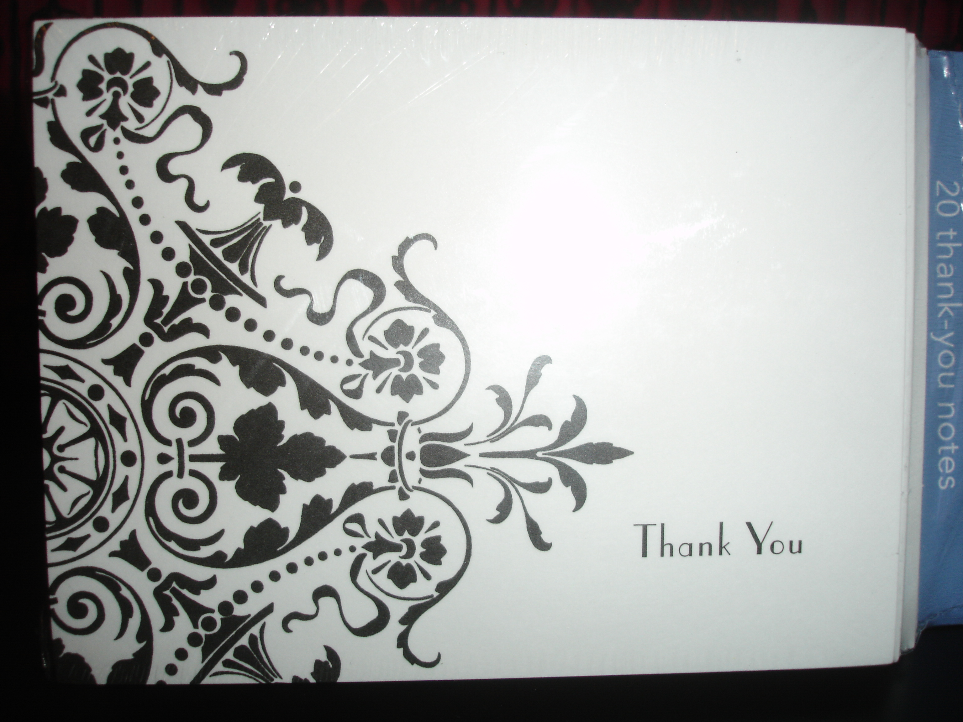 Cards, You, Thank, Damask
