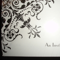 Bridal, Shower, Damask, Invites