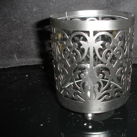 Damask, 4, Candleholder, Metal