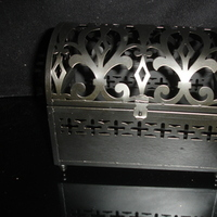 black, Box, Damask, Metal