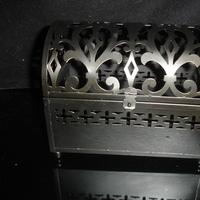 black, Box, Damask, Metal