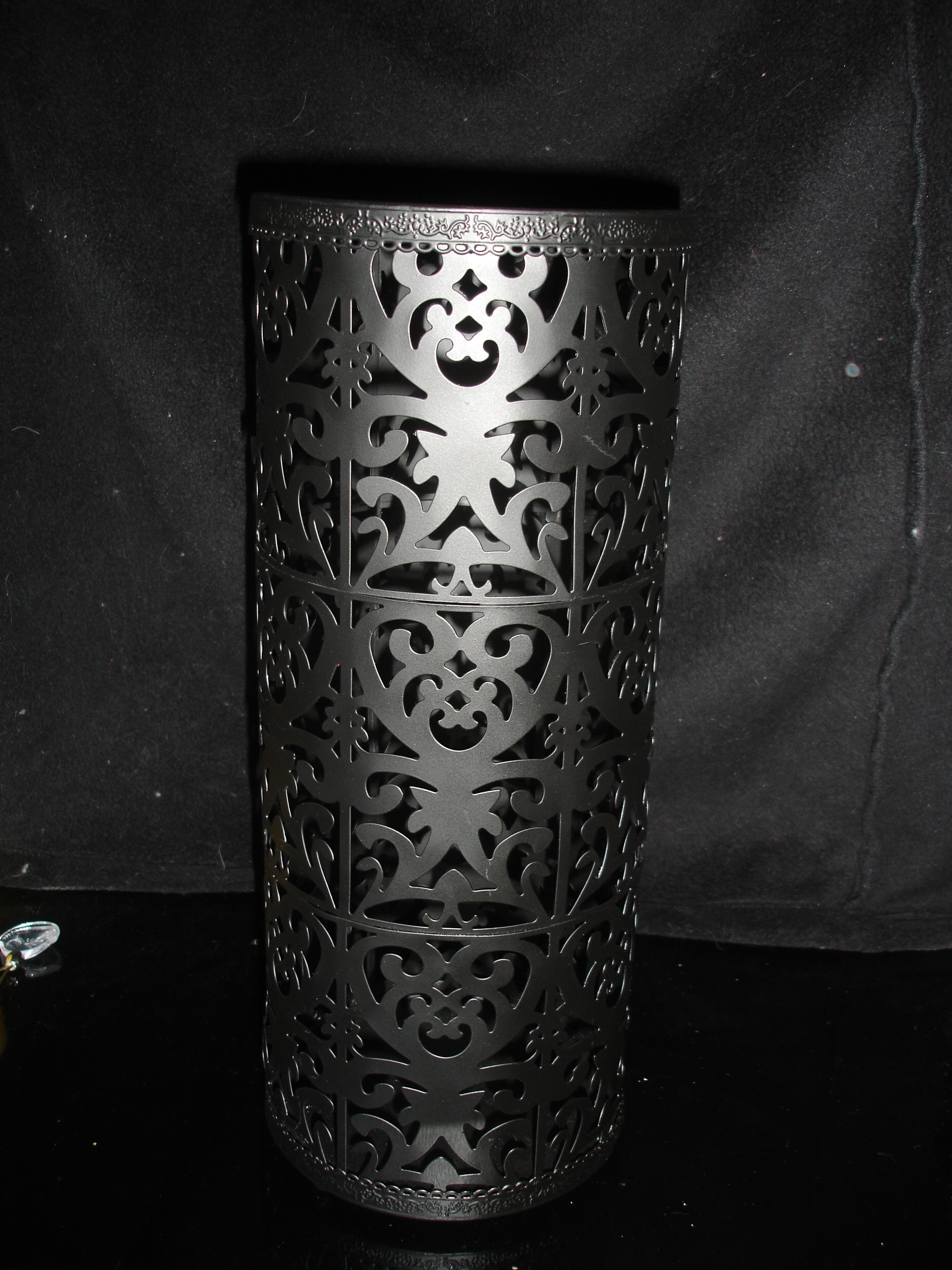 Damask, Candleholder, Large, Metal