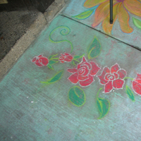 Flowers & Decor, Decor, red, Rose, Alternative, Runner, Art, Indie, Chalk, Just by jen