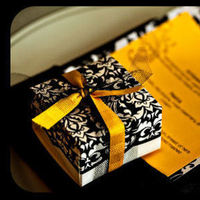 Planning, white, yellow, black, planner, Modern, Centerpiece, Wedding, Proposal, A, Event, Damask, Carnations, Edmonton, A modern proposal event planning