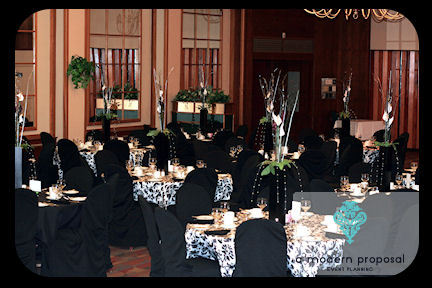 Planning, purple, planner, Modern, Wedding, Proposal, A, Event, Damask, Edmonton, A modern proposal event planning