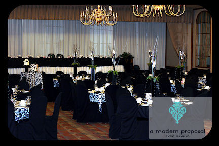 Planning, white, purple, black, planner, Modern, Wedding, Proposal, A, Event, Damask, Edmonton, A modern proposal event planning