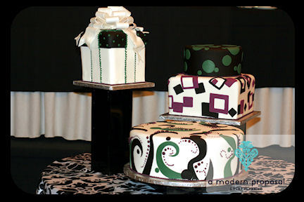 Planning, Cakes, purple, green, cake, planner, Modern, Modern Wedding Cakes, Wedding, Proposal, A, Event, Edmonton, A modern proposal event planning