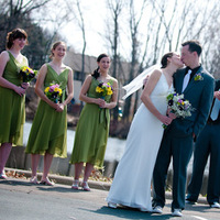 Bridesmaids, Bridesmaids Dresses, Wedding Dresses, Fashion, green, dress, Groomsmen, Bride, Bouquet, Groom, John sharpe photography