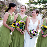 Bridesmaids, Bridesmaids Dresses, Wedding Dresses, Fashion, green, dress, Bouquet, John sharpe photography