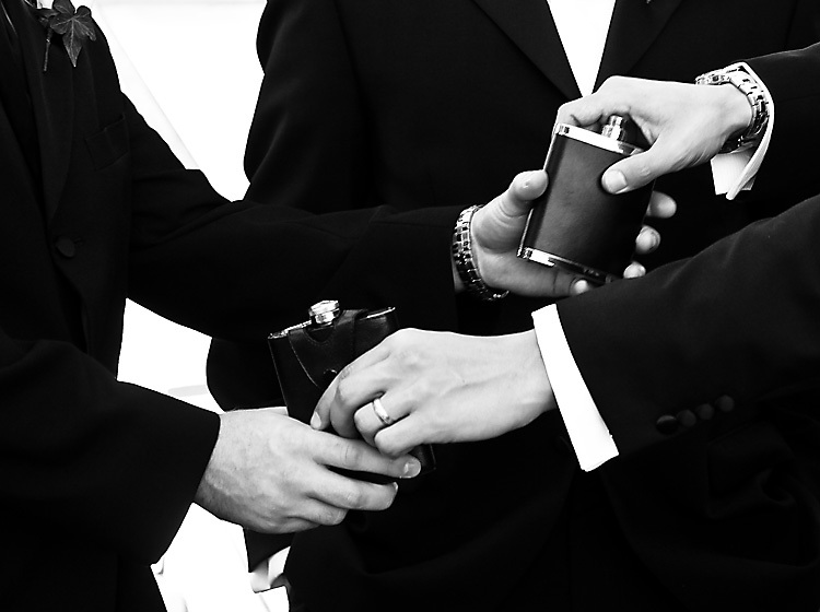 Men, white, black, Groomsmen, Groom, Drink, And, Bw, Drinking, Flask, Jean-philippe dobrin photography