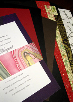Stationery, Invitations, Wedding, With, Sashes, Formal-invitationscom