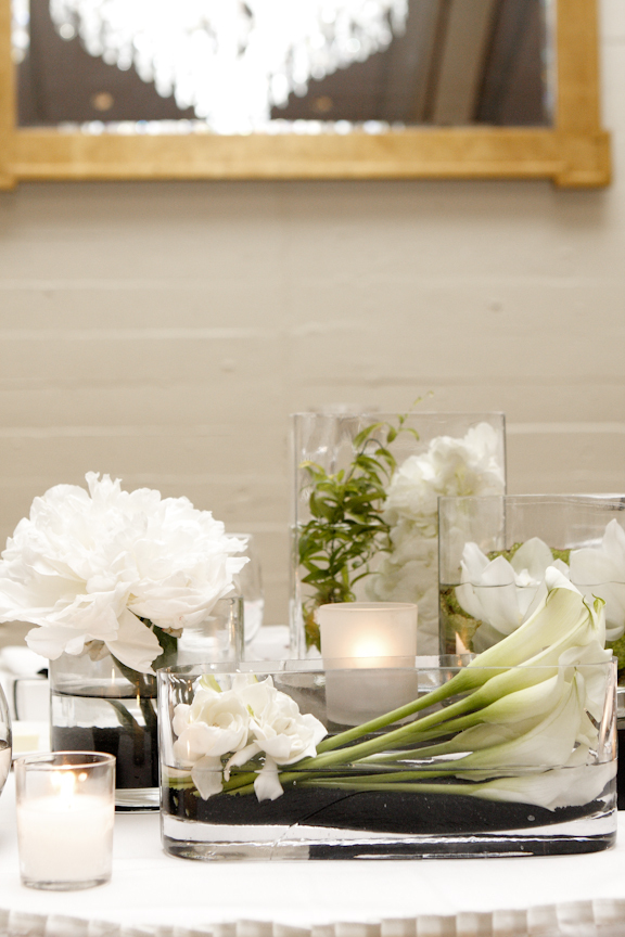 Reception, Flowers & Decor, white, Centerpieces, Orchids, Calla-lilies, Tealight weddings events, Gardenias